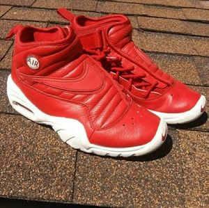 Red Leather Nike Air